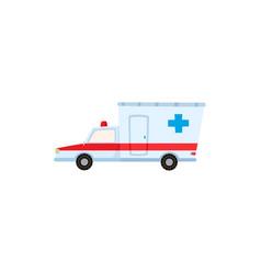 emergency ambulance car hospital transportation vector image