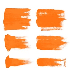 orange brush strokes the perfect backdrop vector image