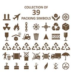 Packing simbols vector
