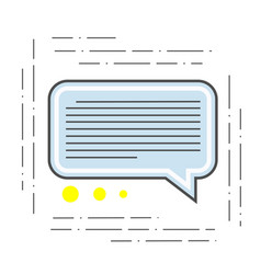 the of a chat is modern icon of vector image