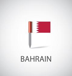 bahrain flag pin vector image vector image