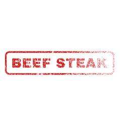 beef steak rubber stamp vector image vector image