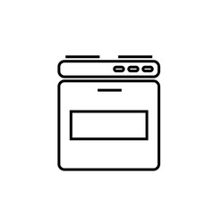 oven icon vector image vector image
