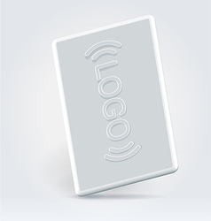 White security pass card vector image