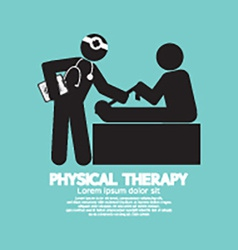 Black Symbol Physical Therapy vector image