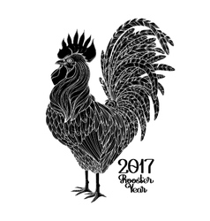 Graphic decorative rooster vector image vector image