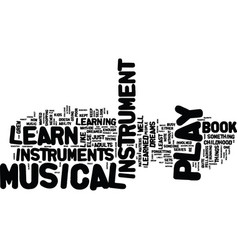 Learn to play musical instrument sets text vector