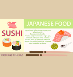poster sushibar japanese food eps10 vector image