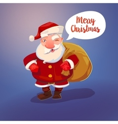 Santa Claus character and sack vector image