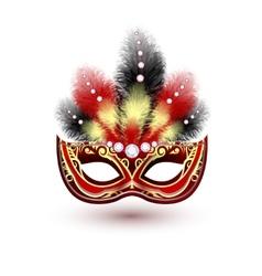 Venetian carnival mask emblem vector image vector image