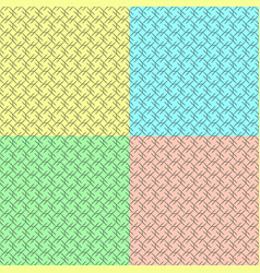 a set of patterns from rhombuses and lines vector image