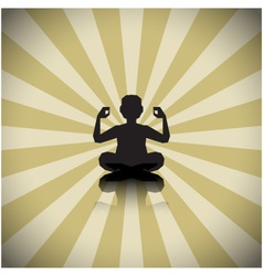 Abstract meditating people background vector image