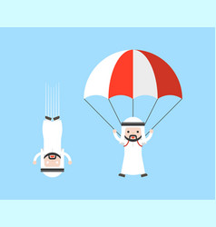 Arab businessman free fall from sky and arab vector