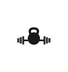 barbel gym dumbbell fitness logo designs vector image