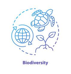 biodiversity concept icon natural ecosystem vector image