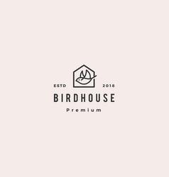 Bird house logo hipster retro vintage icon vector