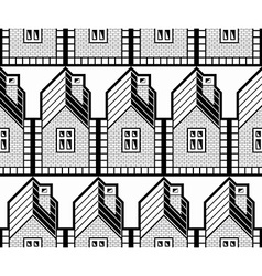 Black and white abstract houses and cottages vector