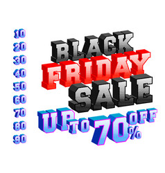 black friday sale banner template 3d design vector image