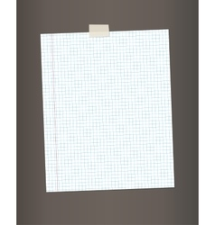 Blank squared paper from a notepad vector