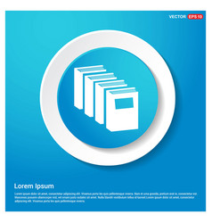 book icon abstract blue web sticker button vector image