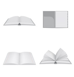 book notebook icons set realistic style vector image