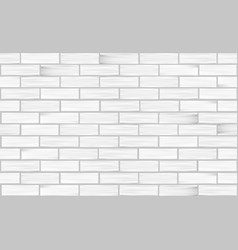 brick wall white texture seamless pattern vector image