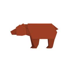 brown bear origami paper animal vector image