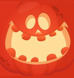 cartoon jack olantern face vector image