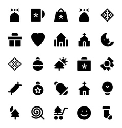Christmas Icons 3 vector image