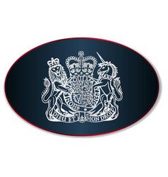 Coat arms united kingdom vector