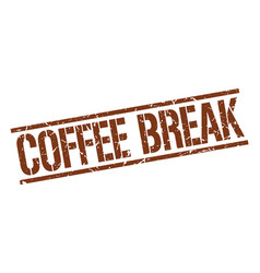 Coffee break stamp vector