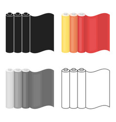 color printing paper in cartoon style isolated on vector image