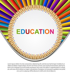 Colorful pencil Education background vector