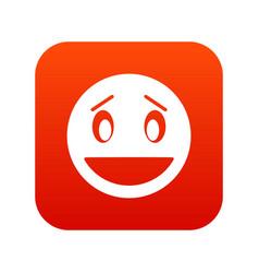 confused emoticon digital red vector image