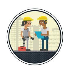 Construction workers cartoons vector