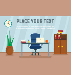 desk chair concept banner flat style vector image