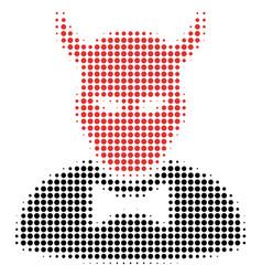 Devil halftone icon vector