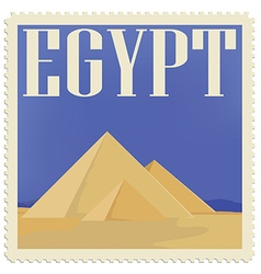 Egypt post stamp vector