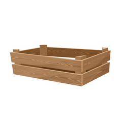 empty wooden box for vegetables vector image