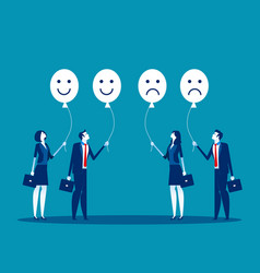 Feelings employees concept business vector