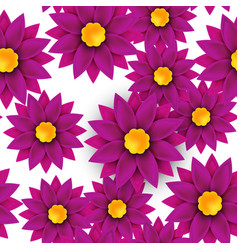 flower seamless pattern paper cut on white vector image