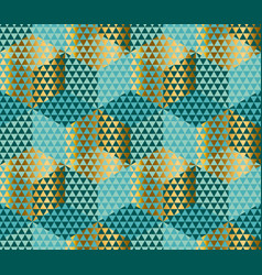geometry motif in lizard or snake skin style green vector image