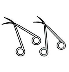 Hand drawn surgical sizer vector