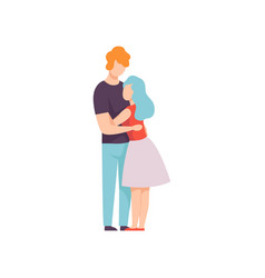 happy couple hugging each other young man and vector image