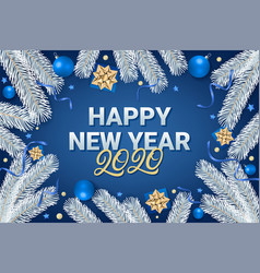 happy new year 2020 lettering text vector image