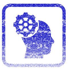 Head gear framed textured icon vector