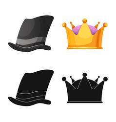 Headwear and cap icon vector