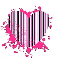 heart rose-colored vector image
