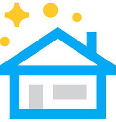 House villa home cleaning clean icon vector