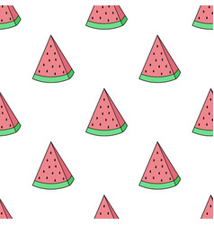image of a watermelon on a white background vector image